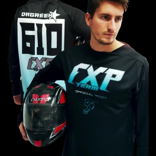 Motocross Langarmtrikot